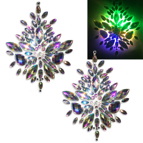LED Nipple Pasties- Rhinestone Clickers by Sasswear - Sasswear