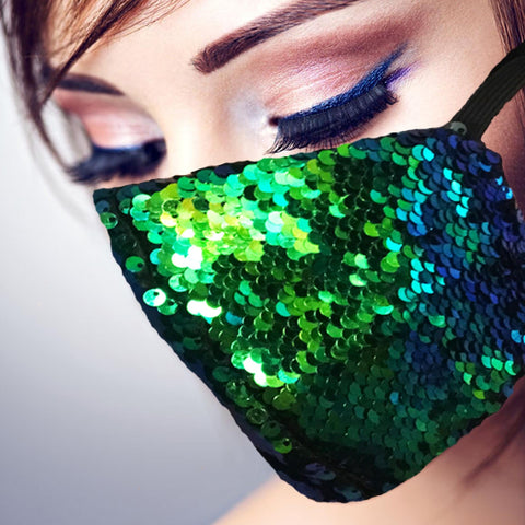 Face Mask | Color Change Sequins - Sasswear