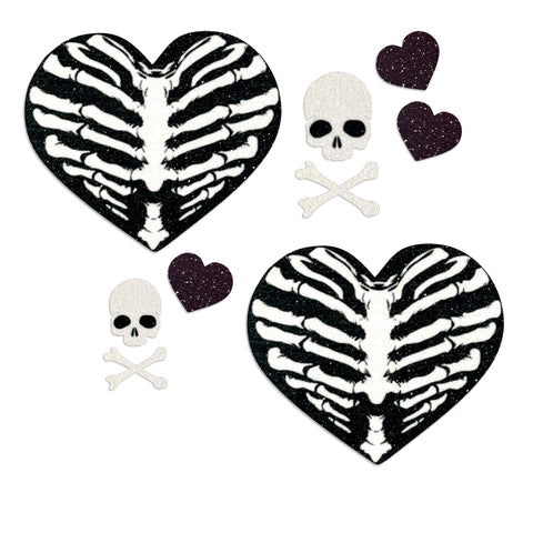 Glitz Nips Heart of Bones Pasties