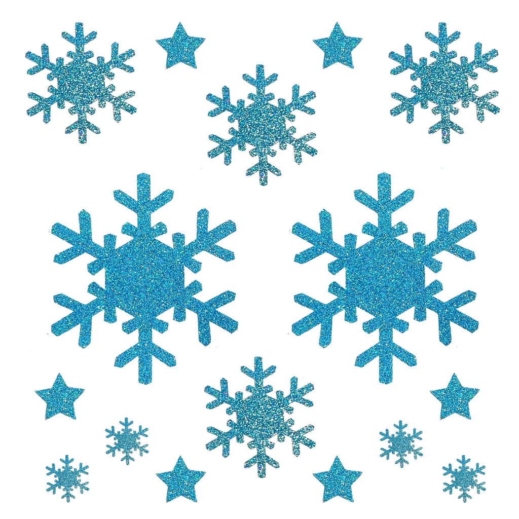 Snowflake Holiday Pasties/Body Sticker Set (Blue)
