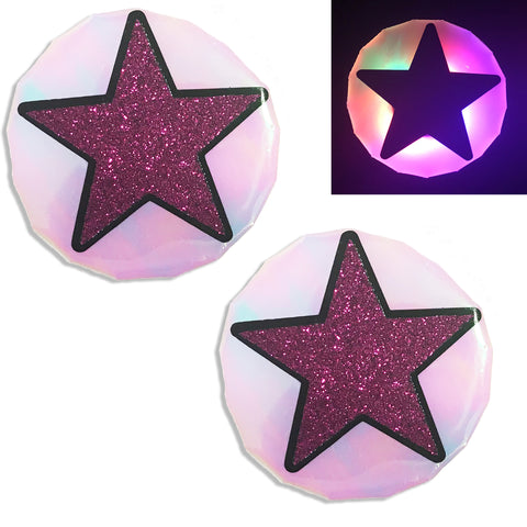 LED Nipple Pasties-Star Clickers by Sasswear - Sasswear