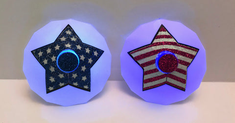 stars and stripes LED Pasties