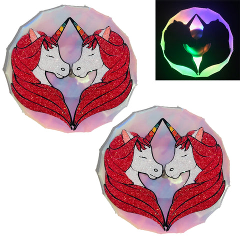 unicorn light up nipple cover pasties by Sasswear