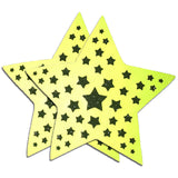 Reflective Neon Starburst Pasties by Sasswear