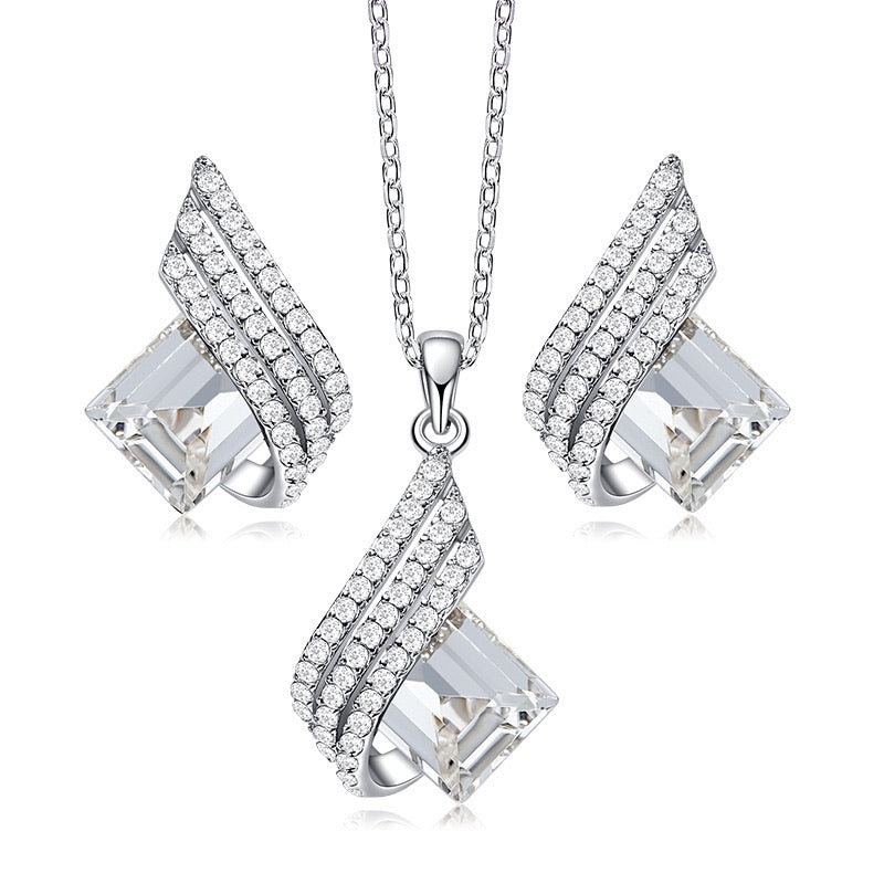 Dazzling Jewelry Set (White)