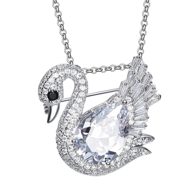 Swan Crystal Necklace