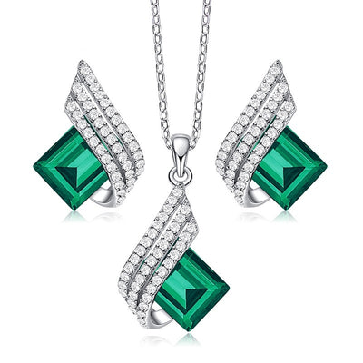 Dazzling Jewelry Set (Forest Green)