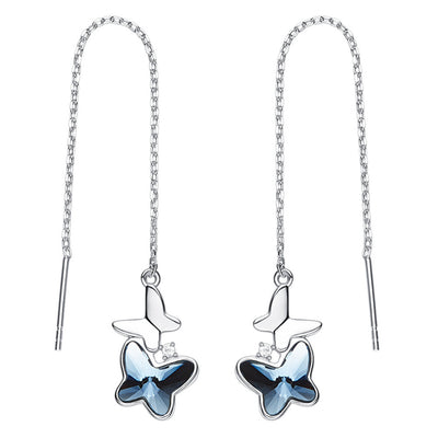 Butterfly Crystal Dangle