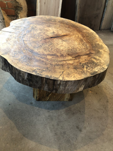 Round Hickory Table with Hickory Legs Green Tree Ontario