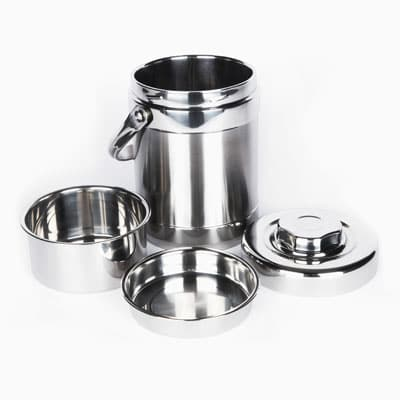 Onyx Stainless Steel Thermal Lunch container 3 sections