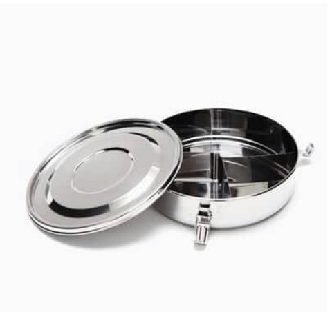 Partitioned Air Tight Stainless Steel Food Storage Container