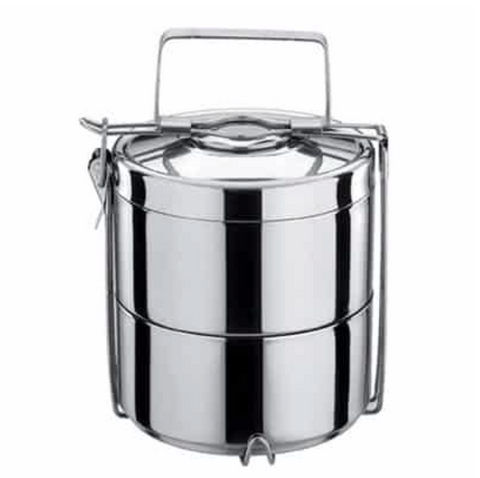 2-Tier Tiffin Double Walled Stainless Steel Food Container