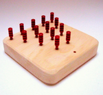 Wooden Solitaire Board Game