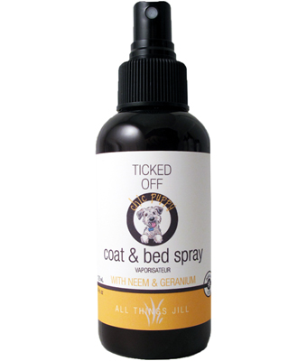 Coat and Bed spray to ward off Critters on your pets