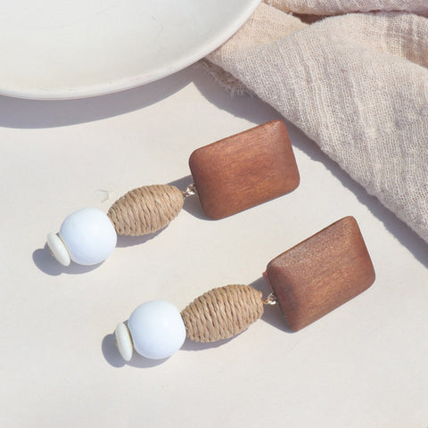 Awa Wood Earrings
