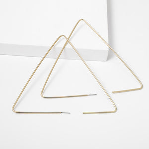 Emma Hoops Earrings - Gold (Triangle shape)
