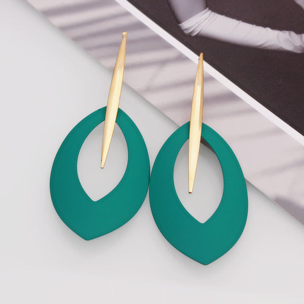 Prisca Drop Earrings (Gold - Red & Green)