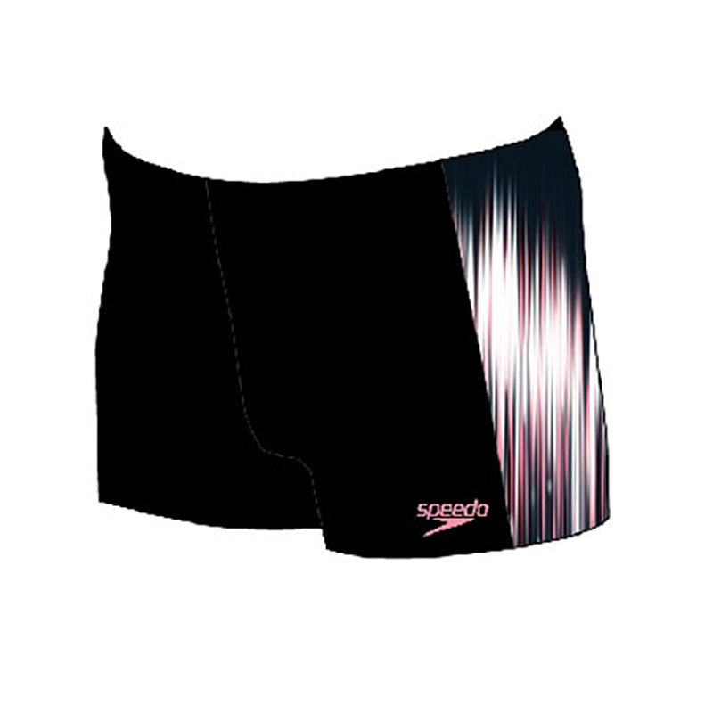 Speedo PowerSprint Placement short Black/Hot Flamingo