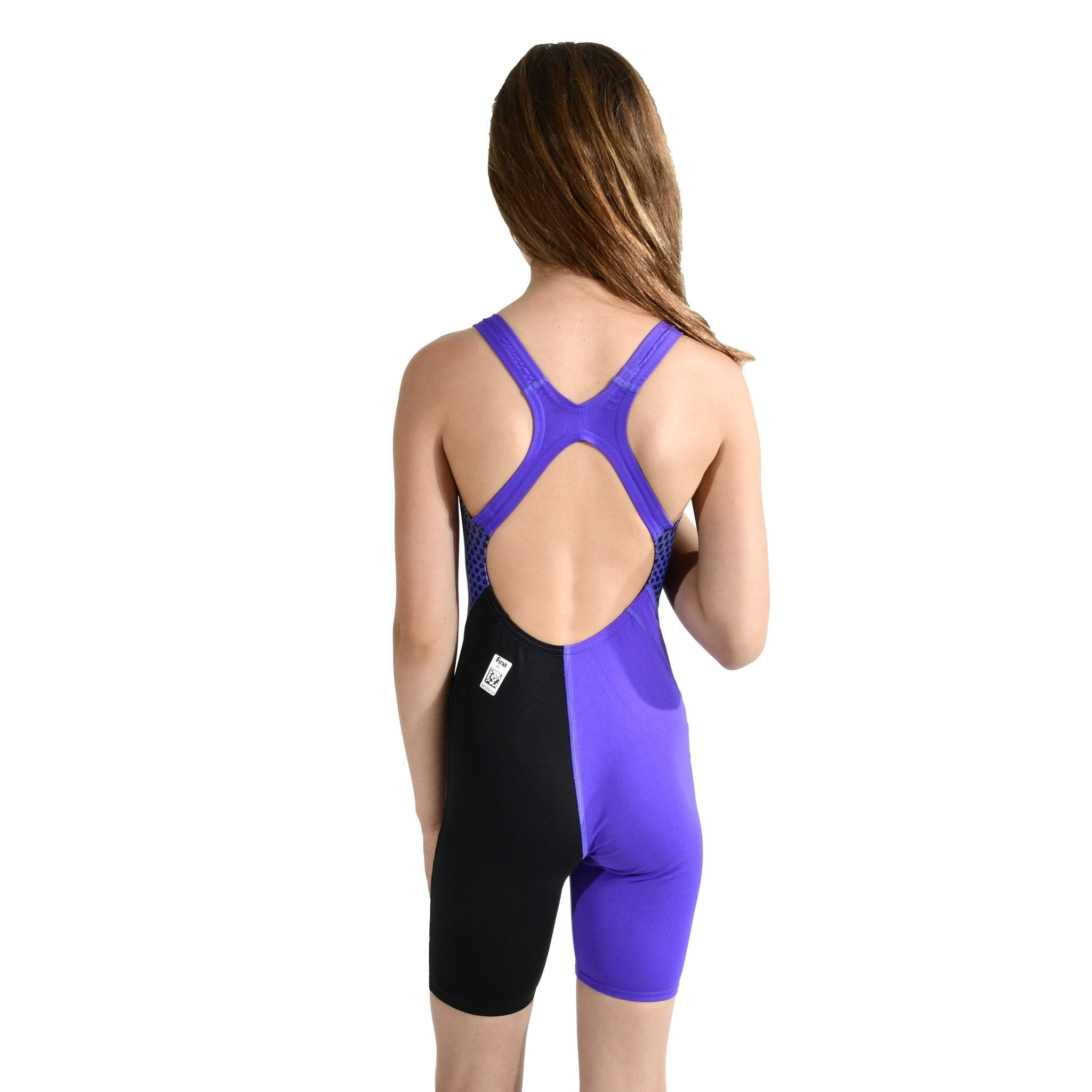 Fastskin Junior Endurance Open Back Kneeskin - Blauw/Paars