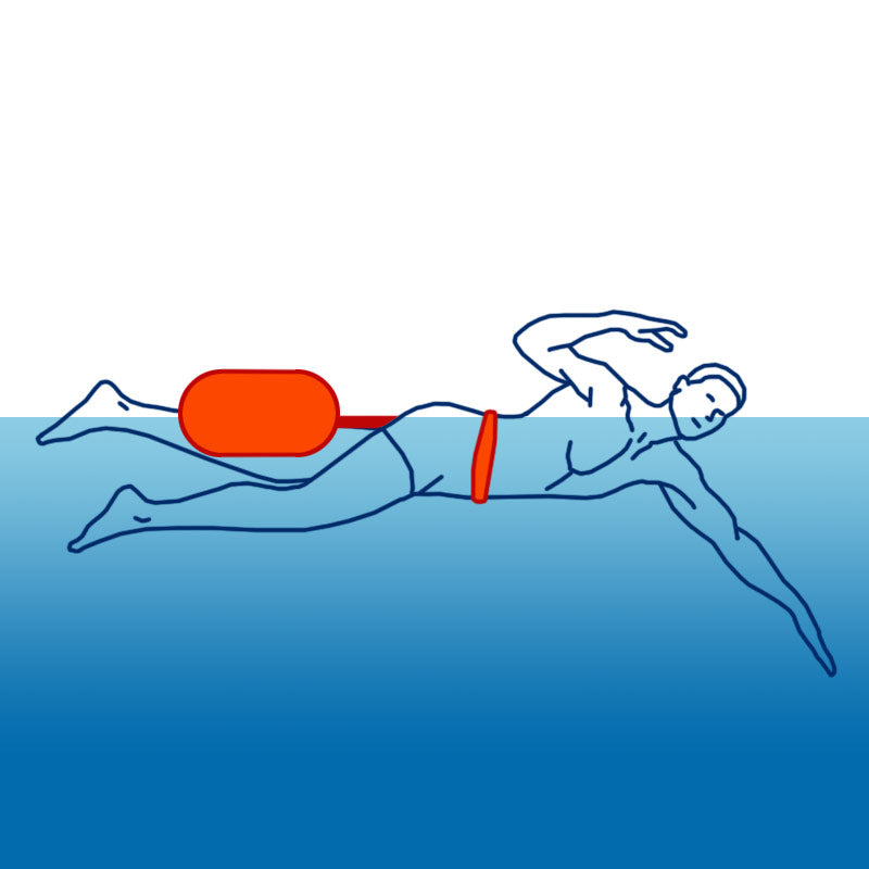 SaferSwimmer™ Large Orange PVC