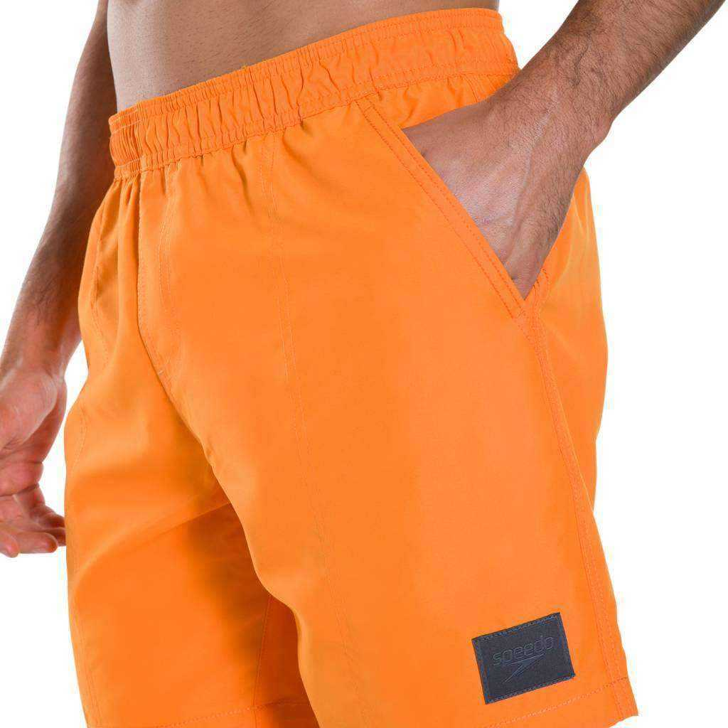 "M Short Check Trim Leisure Watershort 16"" Oranje 