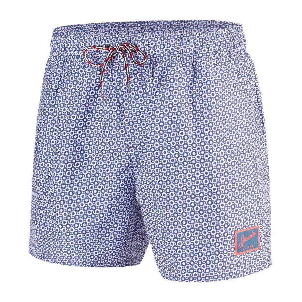 M Short Vintage printed Watershort Blue/white | Zwemmershop