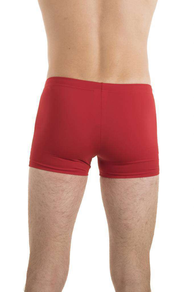 Heren Solid Short Rood/wit | Zwemmershop (5353915056291)
