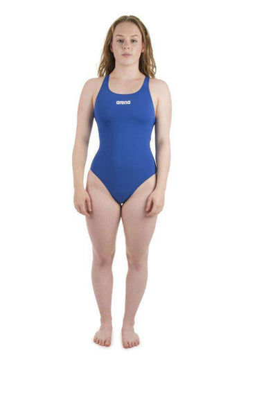 W Solid Swim Pro royal/white | Zwemmershop