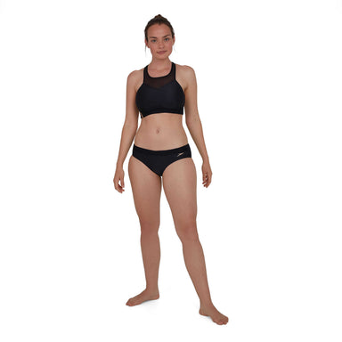 Hexagonal Mesh Panel Bikini Zwart - Goud | Speedo