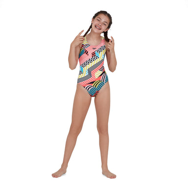 End Dazzlespark Placement Leaderback Zwart | Speedo