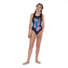 Jungleglow Digi Placement Leaderback Blauw - Multi | Speedo