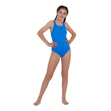 Junior Essential Endurance+ Medalist Badpak Blauw | Speedo