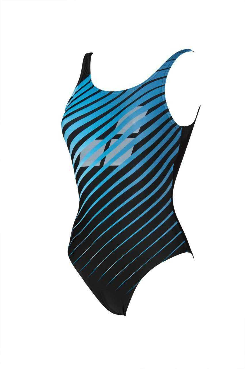 W Flicker U Back One Piece B black-multi | Zwemmershop