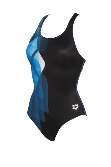 Mirrors Swim Pro Back One Piece Zwart - Turquoise | Arena