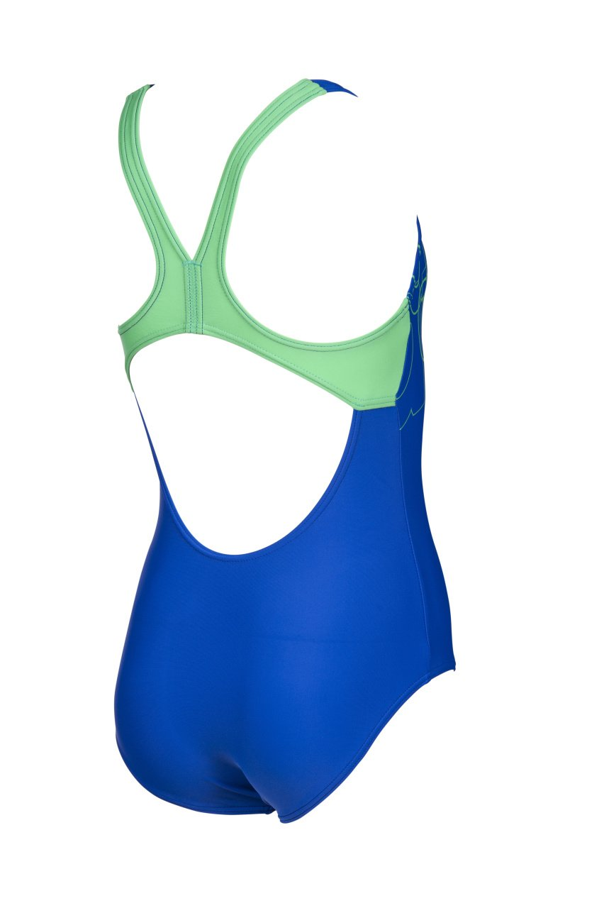 Spotlight Junior Swim Pro Back One Piece Gevoerd Blauw - Groen | Arena