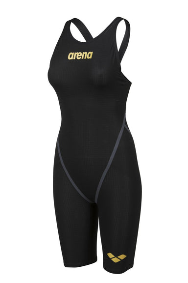 Powerskin Carbon FX Open Back Zwart - Goud | Arena