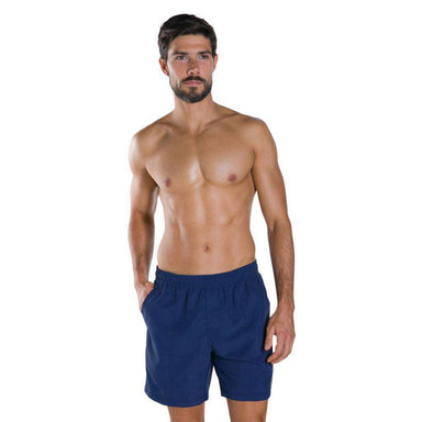 "M Short Check Trim Leisure Watershort 16"" Navy 