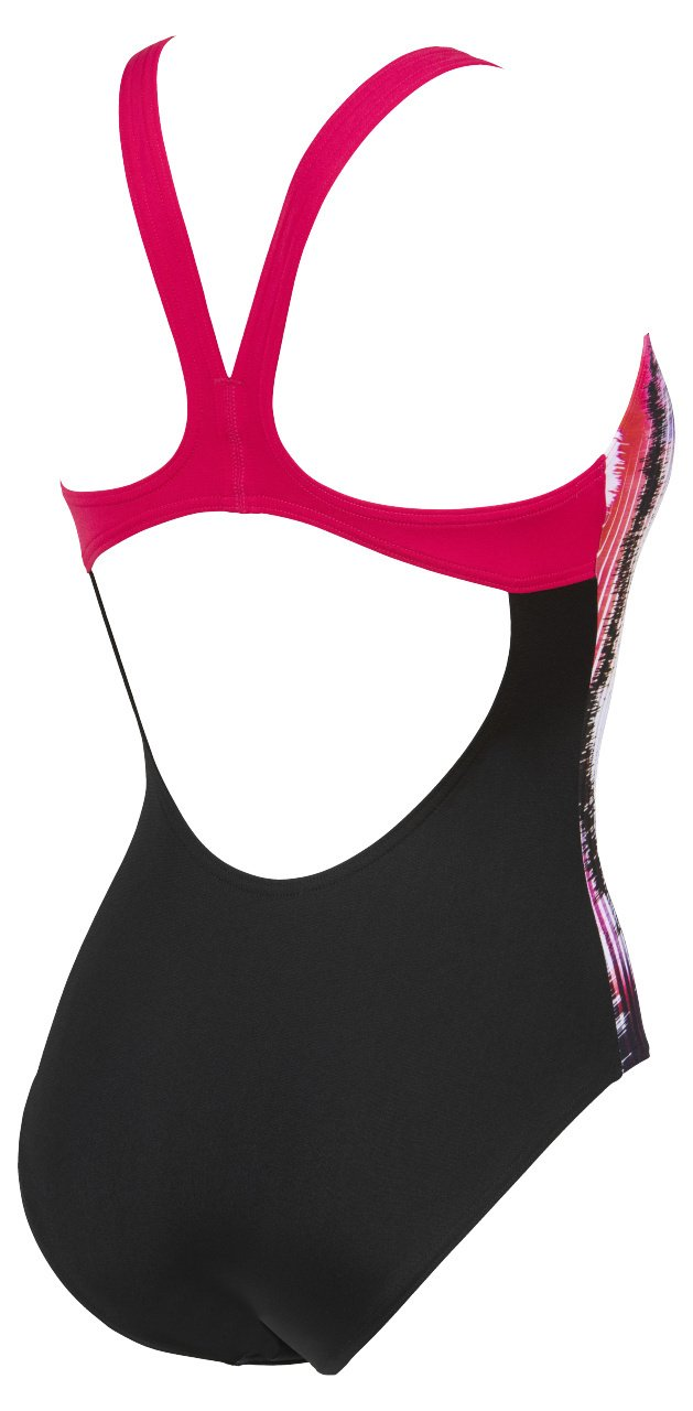 Infinite Stripe Swim Pro Back One Piece - Zwart/Roze