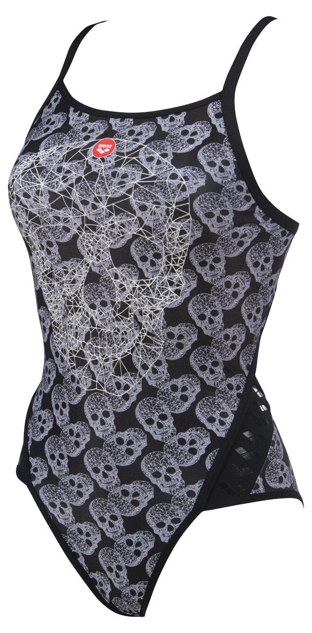 Crazy Pop Skulls Superfly Back One Piece - Zwart/Multi