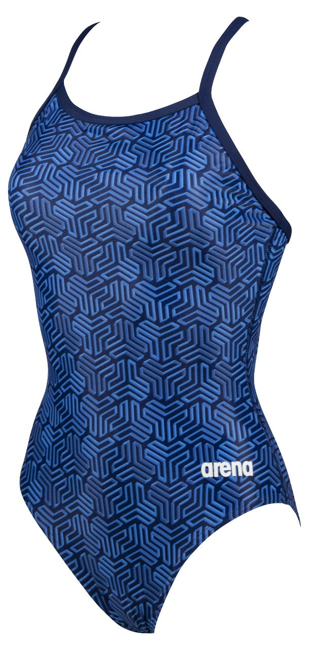 Kikko Light Drop Back One Piece - Navy/Multi