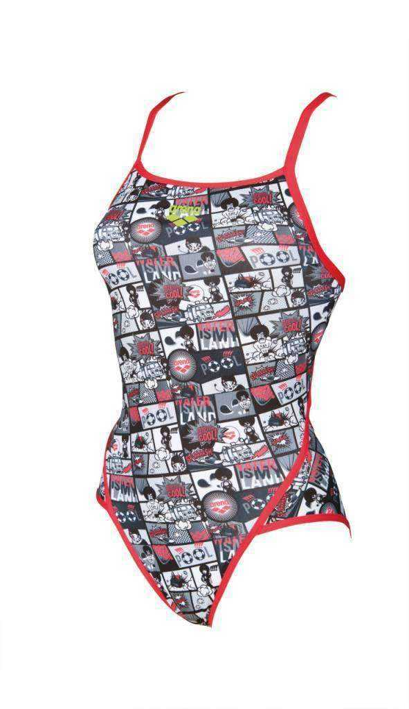 W Comics Super Fly Back One Piece Lined fluo-red-black | Zwemmershop