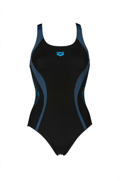 W Balance V Back One Piece Zwart - Shark | Zwemmershop