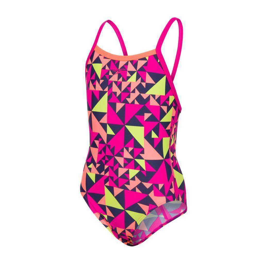 Girls Pool E10 Fluotime Allover Thinstrap Crossback | Zwemmershop