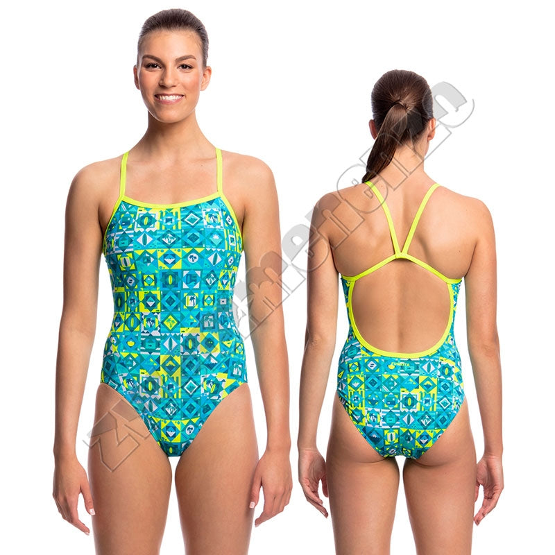 Funkita Ladies Single Strap Lime Light