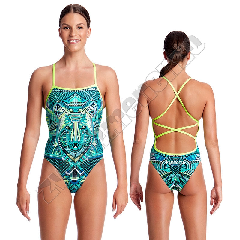 Funkita Ladies Strapped in One Wear Wolf
