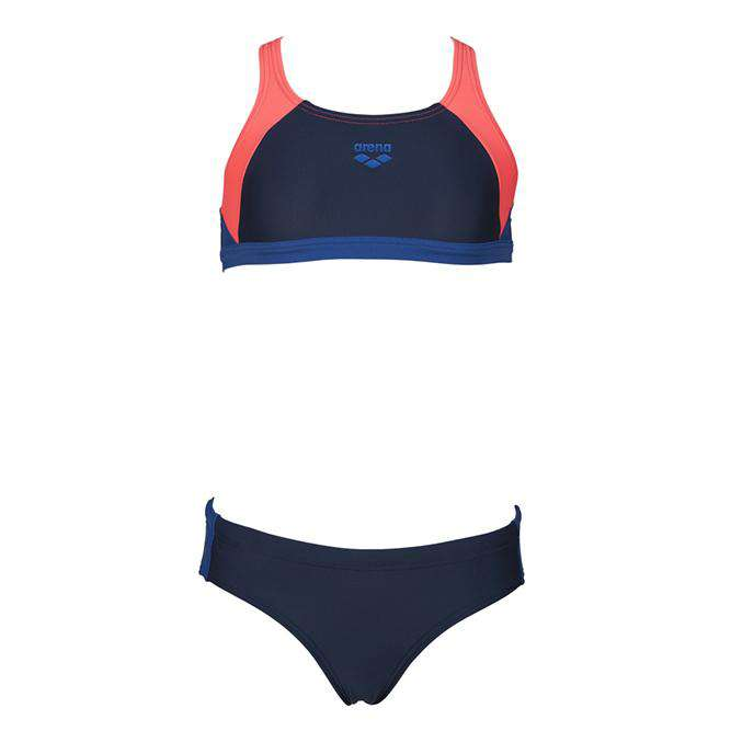 Girls Ren Bikini Navy - Shiny roze - Royal | Zwemmershop