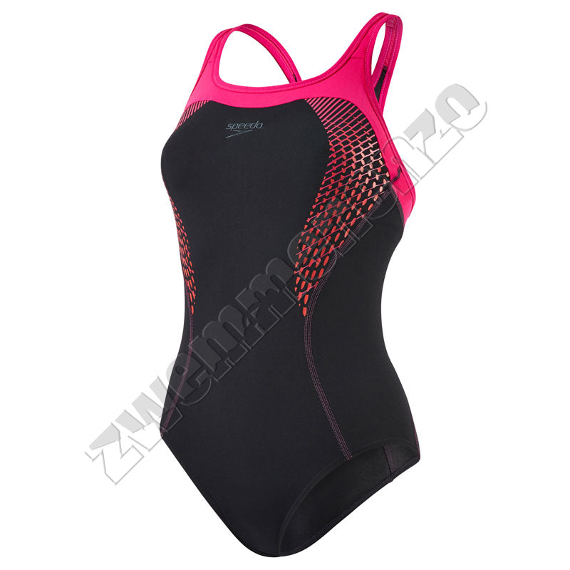 Speedo Fit Kickback Black/pink/red