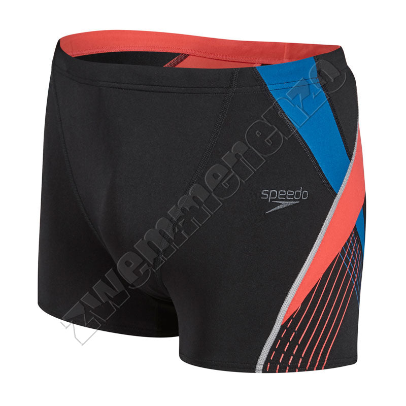 Speedo Fit Splice Aquashort black/ red/ blue