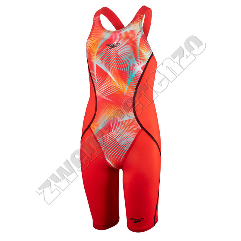 Speedo Fastskin Junior LZR Racer X Openback Kneeskin Red/ pink