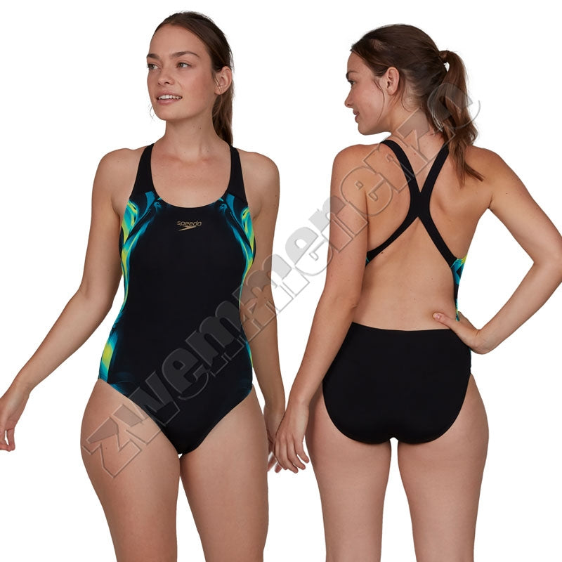 Speedo Coloursoul Placement Digital black-yellow